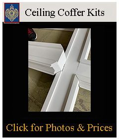 create coffered ceilings with an easy to use coffer kit