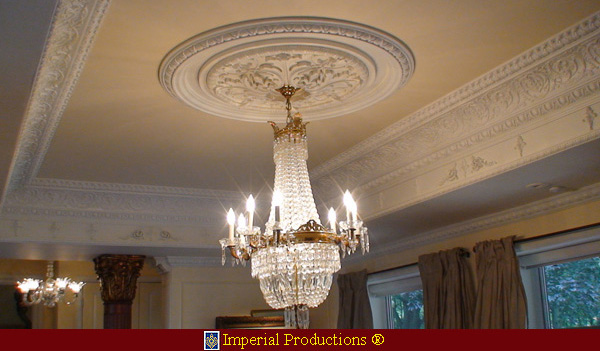 Create fabulous ceilings with crowns, medallions, rings all from Imperial Productions