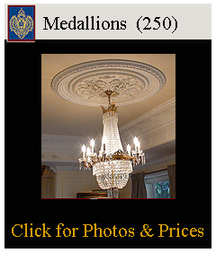 250 ceiling medallions from plaster, archpolymer, flexible resinmold