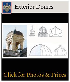 exterior structural and decorative domes, mosque domes, church domes