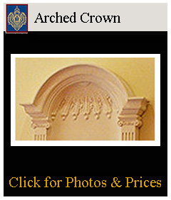 arched crowns made from ResinMold