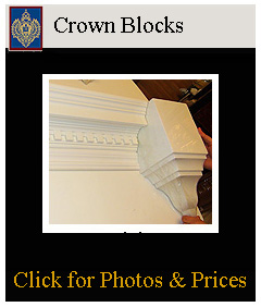 easy to terminate crown mouldings with crown blocks