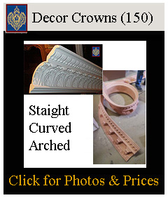 curved and straight crown mouldings flexible for curved walls and arches