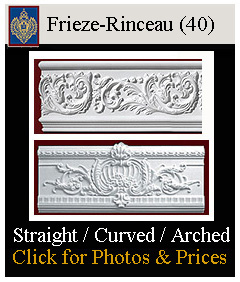 Frieze and Rinceau for walls, ceilings, building exteriors, curved and straight