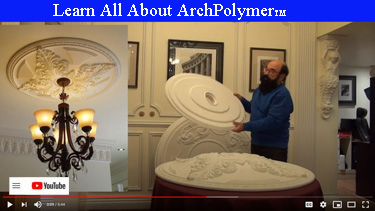 Learn all about ArchPolymer Materials for Ceiling Medallions, Crowns