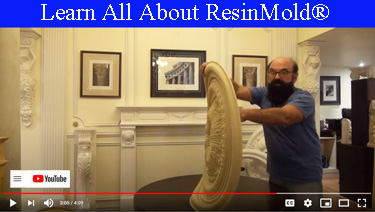 Learn all about ResinMold flexible medallions and crowns for arches and curves